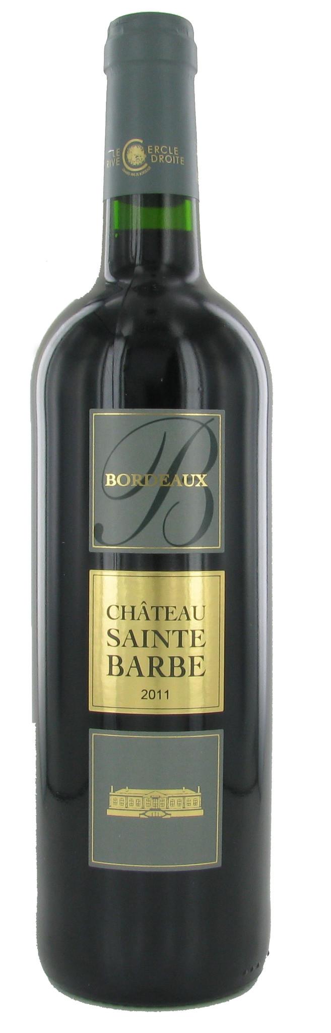 Château Sainte Barbe Bordeaux Superieur, 2011, Frankrijk, Rode Wijn