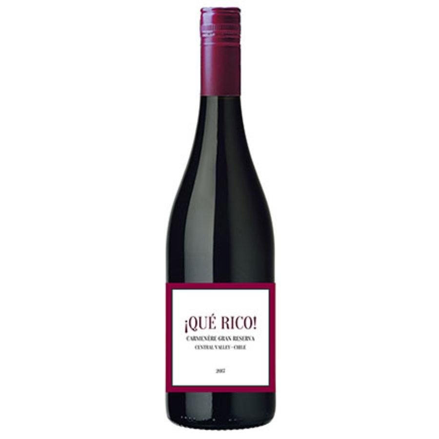 !Que Rico! Carmenère Gran Reserva, 2017, Central Valley, Chili, Rode wijn