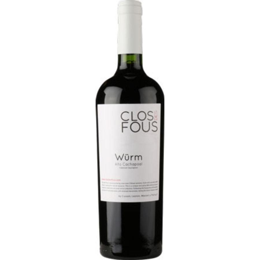 Clos des Fous 'Würm', Cabernet Sauvignon, Maipo Valley, Chili, Rode wijn