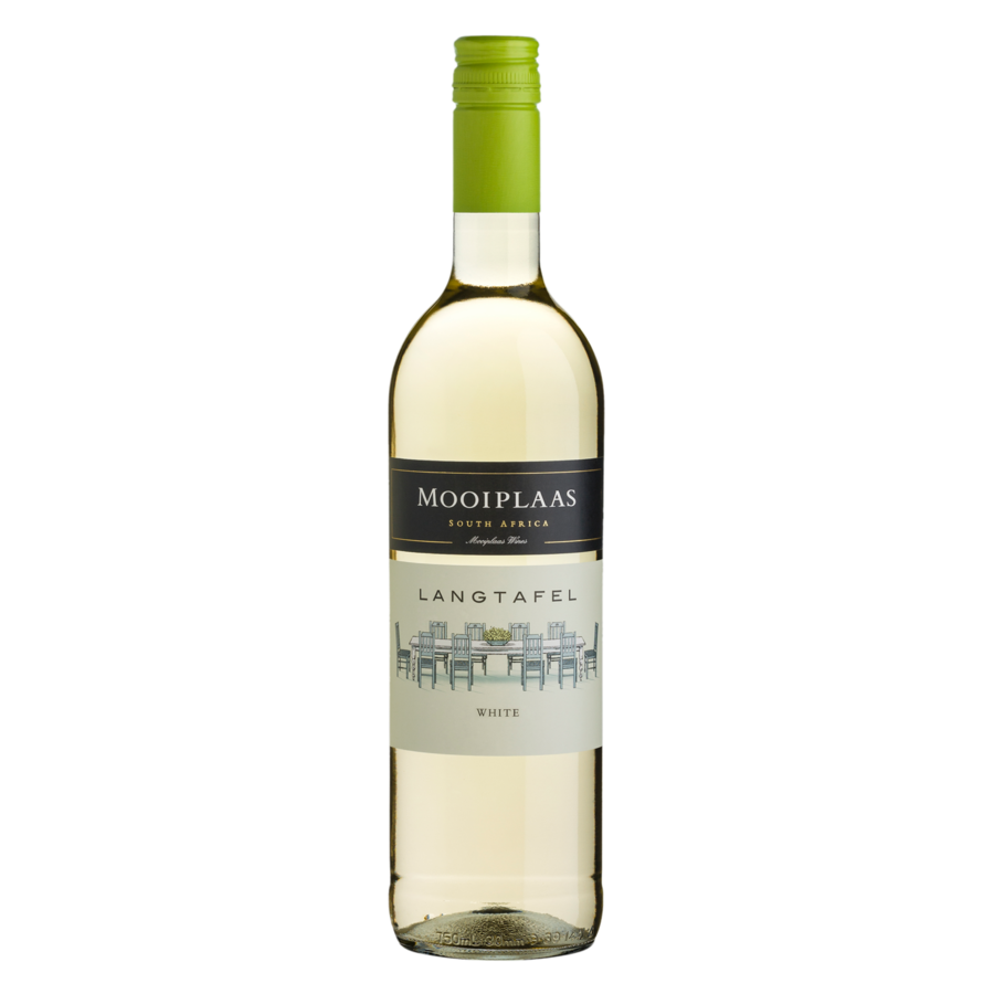 Mooiplaas Wine Estate, Langtafel Colombard-Chenin Blanc, 2020,  Stellenbosch, Zuid-Afrka, Witte wijn