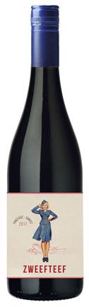 Zweefteef Pinotage/Shiraz, 2020, Western Cape, Zuid-Afrika, Rode wijn