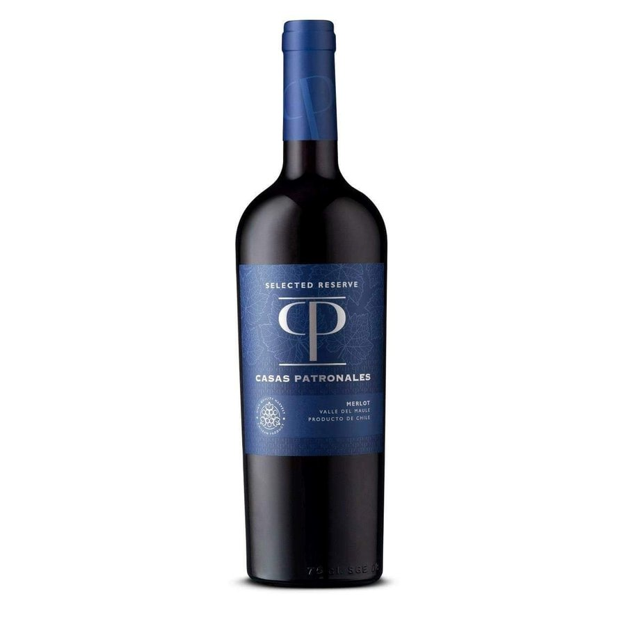 Casas Patronales, Selected Reserva Merlot, 2019, Maule valley,Chili, Rode Wijn