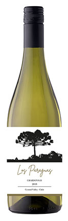 Los Paraguas Chardonnay, 2019, Central Valley, Chili, Witte wijn