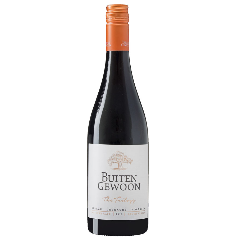 Buitengewoon, The Thrilogy 'Shiraz Grenache Viognier', 2019, Western Cape, Zuid-Afrika, Rode wijn