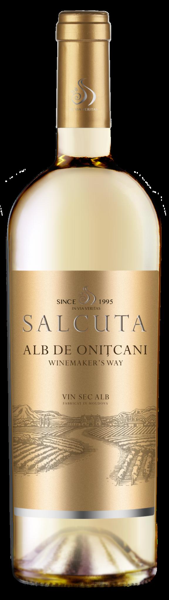 Salcuta Winemakers Way, Alb de Onitcani, 2018, Salcuta, Moldavië, Witte wijn