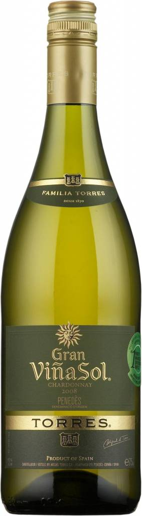 Torres Gran Vina Sol Chardonnay, 2017, Cataloni�, Spanje, Witte Wijn