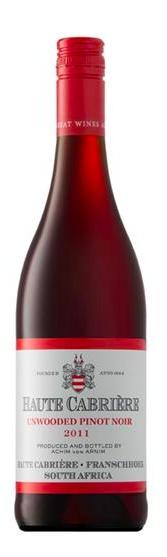 Haute Cabriere Haute Cabriëre Unwooded Pinot Noir,2019, ZA