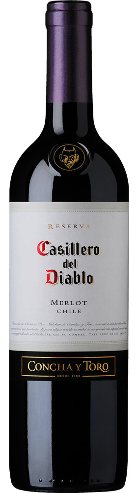 Casillero del Diablo Merlot, Central Valley, 2014, Chili, Rode Wijn