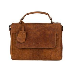 BURKELY Handtas Croco Chloe Citybag Cognac