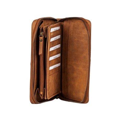 BURKELY  Croco Chloe Travel Wallet Cognac