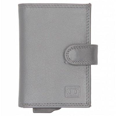 Double-D Creditcard Portemonnee leer grey
