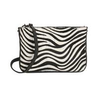 CHARM clutch Zebra print