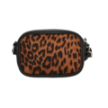 CHARM London Fullham schoudertas luipaard bruin