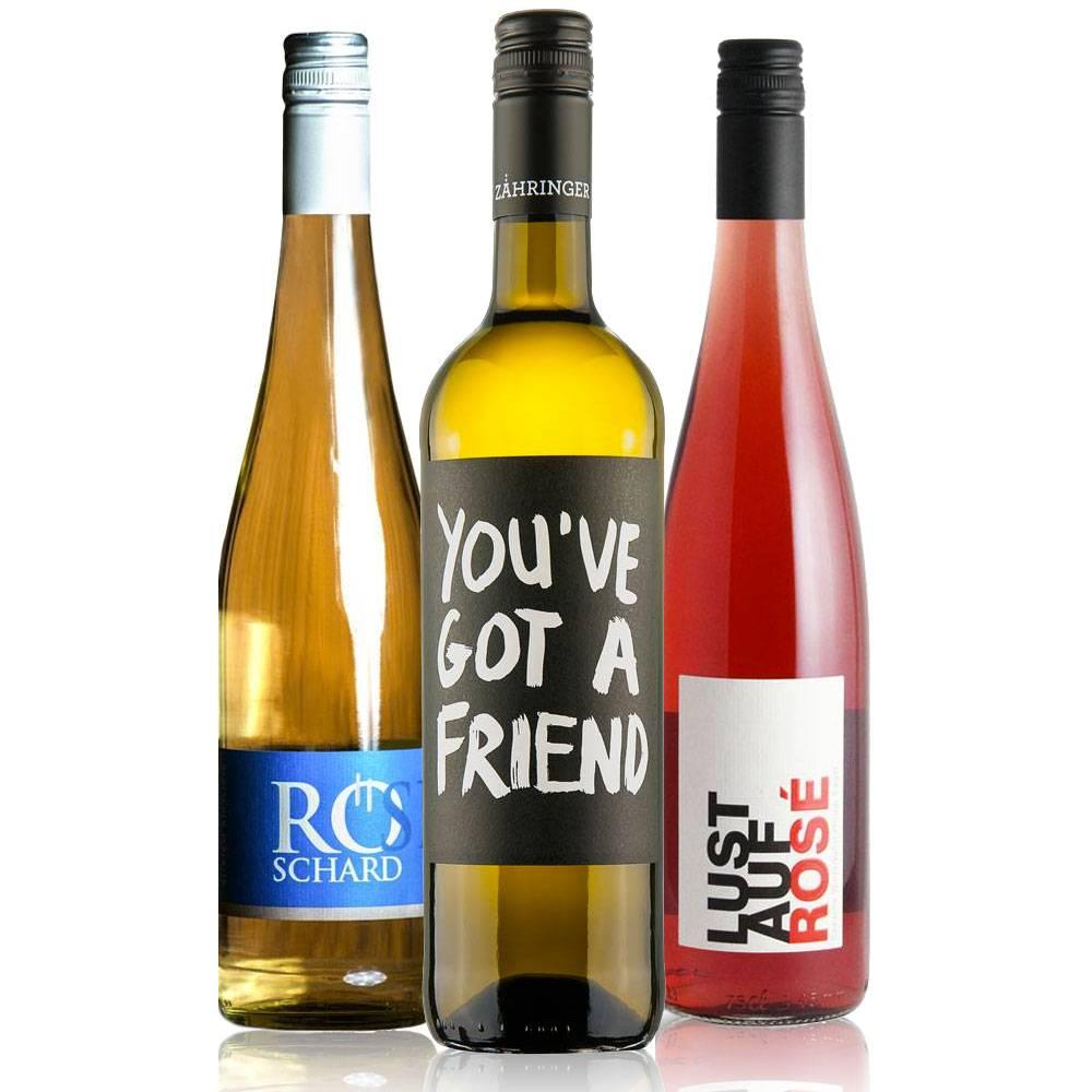 Sommerwein Trio – Spritzig, fruchtig, frische Sommerweine im kleinen 3er Paket