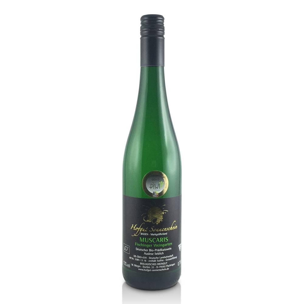Hofgut Sonnenschein Muscaris  2016 Auslese feinherb, 82 Pt. internationaler bioweinpreis SILBER - Hofgut Sonnenschein