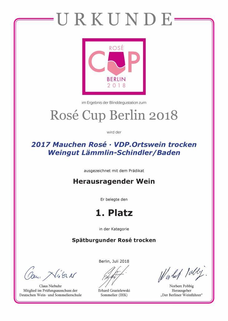 Weingut Lämmlin-Schindler Rosé 2016/2017 trocken VDP.ORTSWEIN 1. Platz Rosè Cup Berlin 2018 - Weingut Lämmlin-Schindler