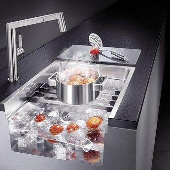 Blanco Spoelbak keuken ETAGON 500 onderbouw met twee etagon rails