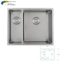 Caressi Spoelbak keuken RVS CA1534R10