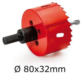 Gatenboor HSS voor hout/kunststof 80x32mm