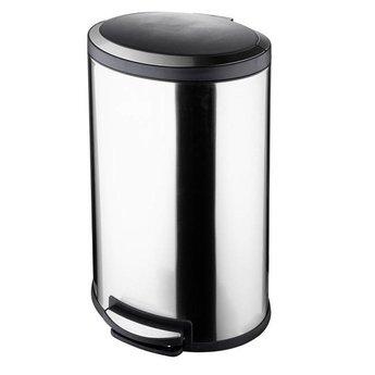 Ovale pedaalemmer 40 liter RVS soft closing
