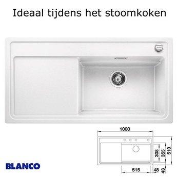 Spoelbak keuken BLANCO ZENAR XL 6 S SteamerPlus incl.toebehoren