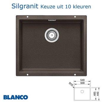 Spoelbak keuken Blanco Subline 500 U Silgranit onderbouw