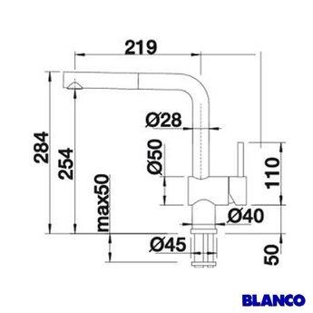 Kraan keuken BLANCO LINUS-S - Chroom