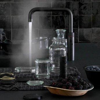 Kokend water kraan Quooker Fusion Round Combi Zwart