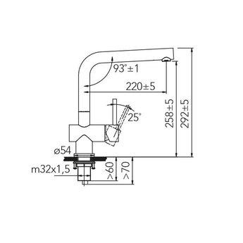 Caressi Zwarte keukenkraan CA108BK ECO PLUS - Outlet
