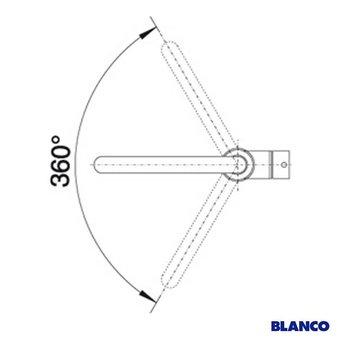 Keukenkraan BLANCO LENO HD chroom