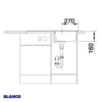 Spoelbak keuken BLANCOTIPO 45 S - 513015
