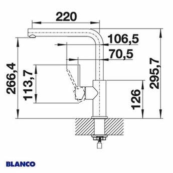Keukenkraan BLANCO LANORA RVS geborsteld