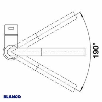 Keukenkraan BLANCO LANORA-S RVS geborsteld