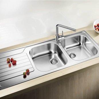 Spoelbak Keuken Blanco Dinas 8s Rvs Opbouw Ikshop