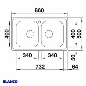 Spoelbak keuken BLANCO DINAS 8 - 523377