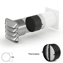 Muurdoorvoer E Jal Col® flow Ø150mm incl.Thermobox Terugslagklep