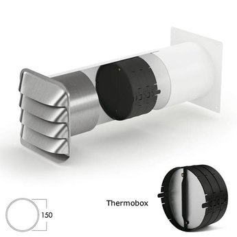 Muurdoorvoer E Jal Col® flow Ø150mm incl.Thermobox