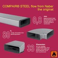 COMPAIR STEEL Flow Ø 150mm, kwaliteit en veiligheid in één.