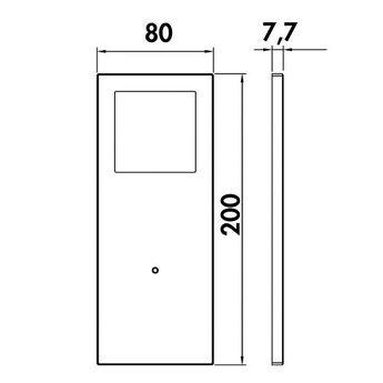 Keukenverlichting onderbouw afzonderlijke lamp  Vetro met zwart of witte glasafdekking