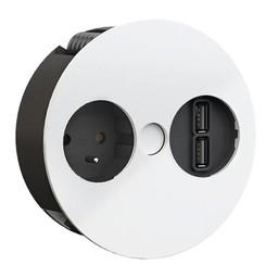 Keuken stopcontactTwist USB Wit Penaarding