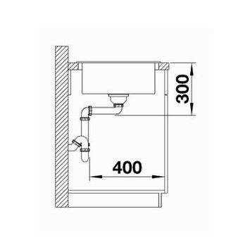 Blanco Spoelbak Blanco SITY XL 6 S - Antraciet - Lava grey