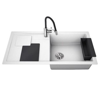 Blanco Spoelbak Blanco SITY XL 6 S - Wit- Lava grey