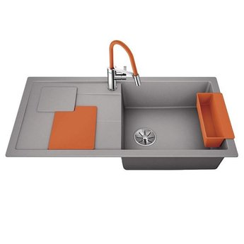 Blanco Spoelbak Blanco SITY XL 6 S - Alumetallic- Orange