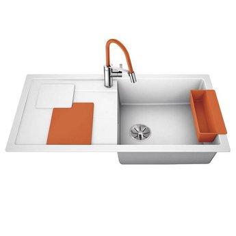 Blanco Spoelbak Blanco SITY XL 6 S - Wit- Orange