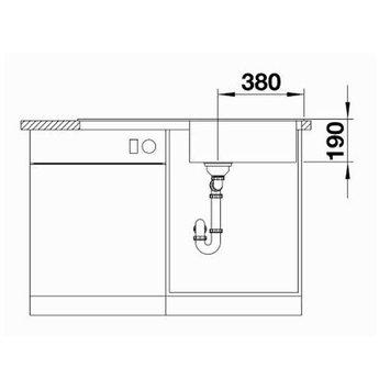 Blanco Spoelbak Blanco SITY XL 6 S - Antraciet- Kiwi