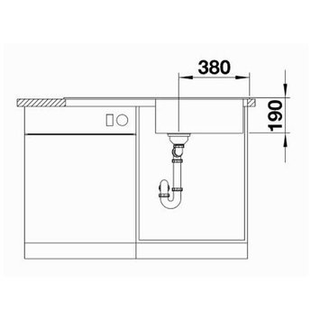 Blanco Spoelbak Blanco SITY XL 6 S - Rock grey- Kiwi