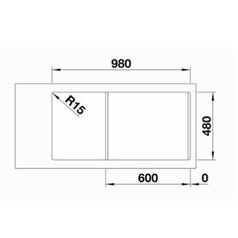 Blanco Spoelbak Blanco SITY XL 6 S - Alumetallic- Kiwi