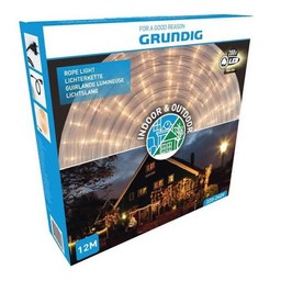 Grundig Lichtslang 12 meter - 288 LED - warm wit