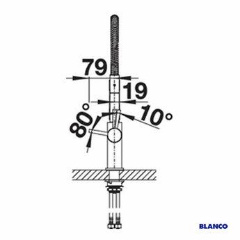 Blanco Keukenkraan BLANCO CATRIS-S Semi-professioneel