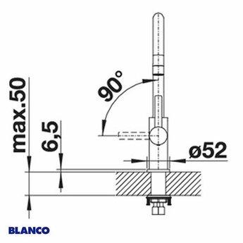Keukenkraan BLANCO CANDOR RVS geborsteld-Outlet
